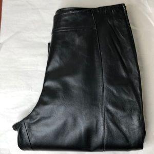DANIER Y2K Black genuine leather lined pants 8